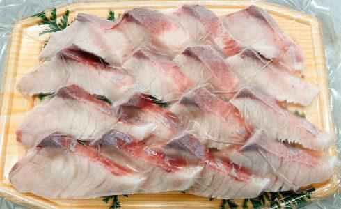 Sashimi sliced amberjack